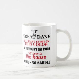 Mug Réponses de marche de great dane