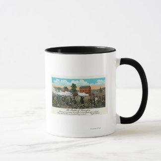 Mug Représentation de la bataille de Lexington