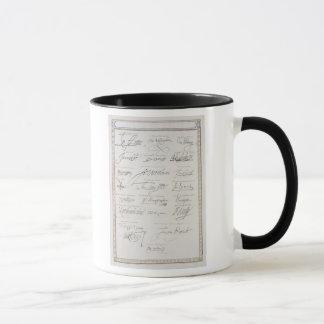 Mug Reproduction des signatures du Tudors et leur
