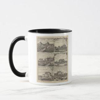 Mug Résidences, fermes, moulin dans Litchfield,