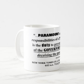 Mug Responsabilités d'une jurisprudence de PRESSE