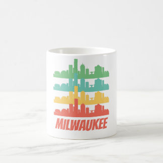 Mug Rétro art de bruit d'horizon de WI de Milwaukee