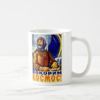 Mug Rétro cosmonaute vintage de Soviétique de kitsch