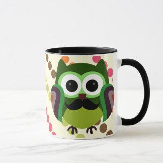 Mug Rétro hibou avec la moustache