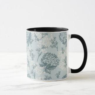 Mug Rétro motif floral avec des fleurs de viburnum