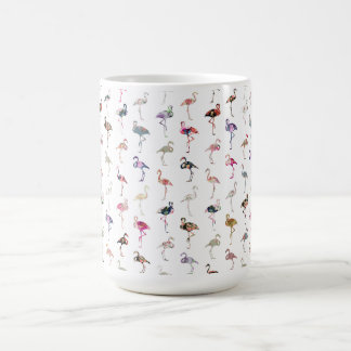 Mug Rétro motif floral lunatique Girly de flamants