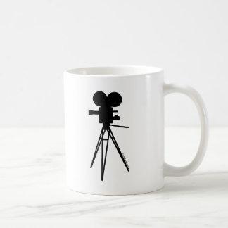 Mug Rétro silhouette d'appareil-photo de film