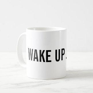Mug Réveillez-vous ! Ajoutez votre nom