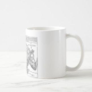 Mug Rhinocéros par Albrecht Durer