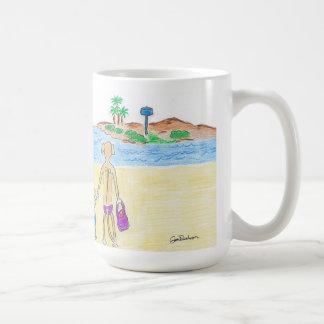 Mug Rhodesian Ridgebacks vont à la plage