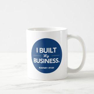 Mug Romney Ryan j'ai établi mes affaires (bleues)