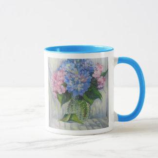"""Mug """"Rose, bleu, et verre """""""