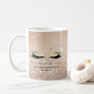 Mug Rose de parties scintillantes d'or de maquillage