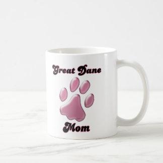 Mug Rose Pawprint de maman de great dane