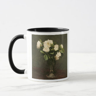 Mug Roses blancs, 1875 (huile sur la toile)