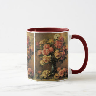 Mug Roses dans un vase par Pierre Renoir, beaux-arts