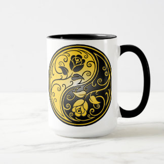 Mug Roses, jaune et noir de Yin Yang