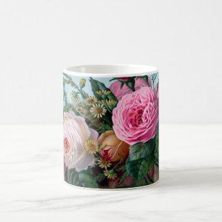 Mug Roses roses romantiques luxuriants botaniques
