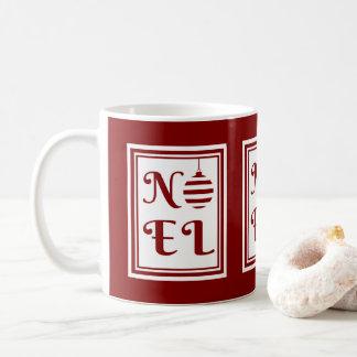 Mug Rouge et blanc de vacances de Noël de NOEL