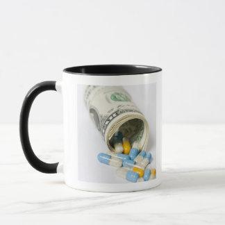 Mug Rouleau de notes et de capsules du dollar