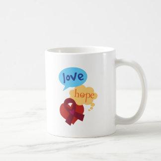 Mug Ruban de Bourgogne d'espoir d'amour