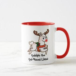 Mug Rudolph le lama au nez rouge