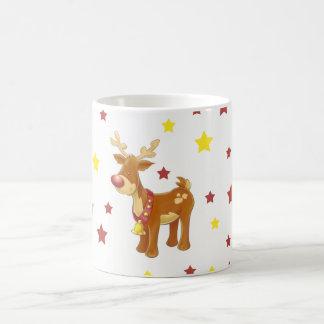 Mug Rudolph les étoiles flairées rouges de Noël de