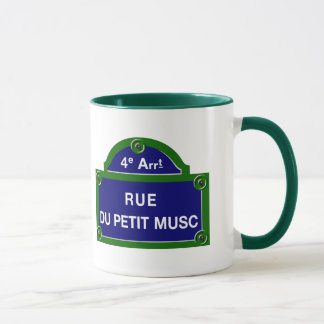 Mug Rue du Petit Musc, plaque de rue de Paris