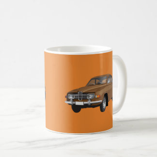 Mug Saab 96, brun,