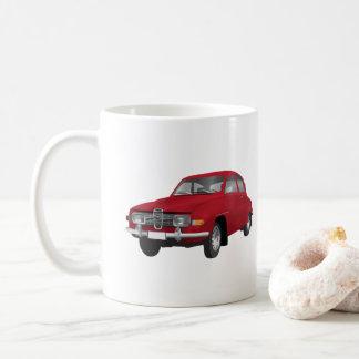 Mug Saab 96, rouge,