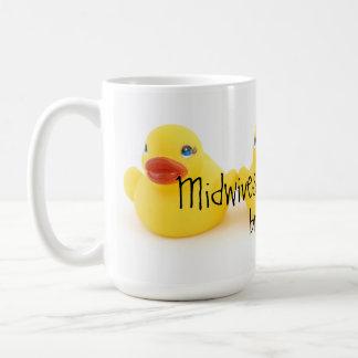 Mug Sages-femmes et canards en caoutchouc jaunes