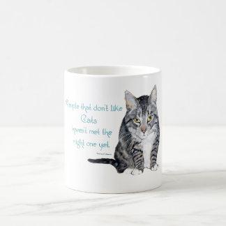 Mug Sagesse de chat - les gens qui n'aiment pas des