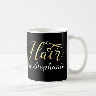 Mug Salon de coiffure d'or de styliste en coiffure de
