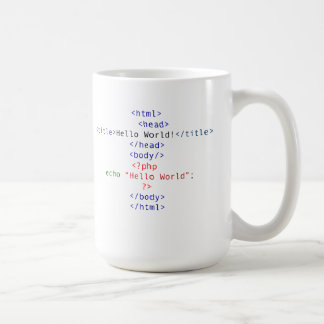 Mug Salutation de PHP de geek