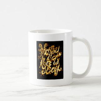 Mug Salutation peinte par lumière de nouvelle année