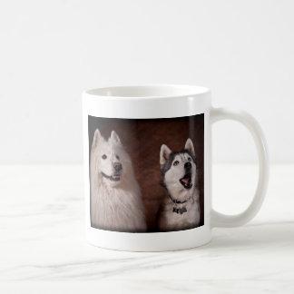 Mug Samoyed and Husky