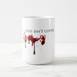 """Mug Sang """"pas de café"""" d'humour de vampire"""