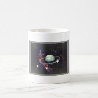 Mug Saturn avec des anneaux