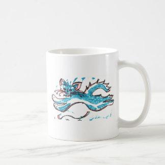 Mug saut heureux de chat