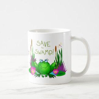 Mug Sauvez le marais crispé la grenouille