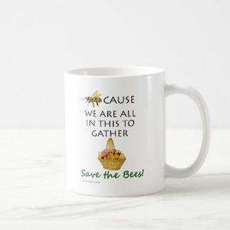 Mug Sauvez les abeilles attaquent ensemble