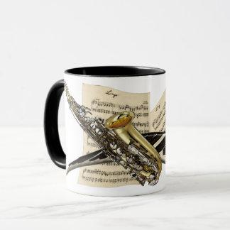 Mug Saxophone et musique de piano