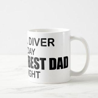 Mug Scaphandre - le meilleur papa du monde par nuit