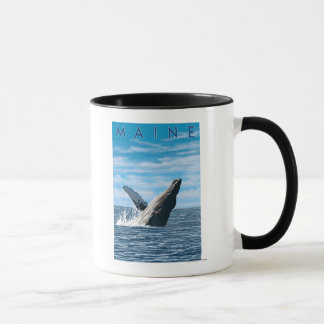 Mug Scène de baleine de MaineHumpback