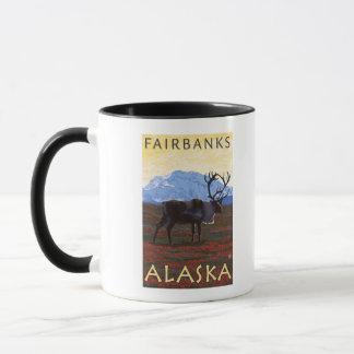 Mug Scène de caribou - Fairbanks, Alaska