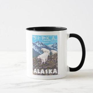 Mug Scène de chèvres de montagne - Sitka, Alaska