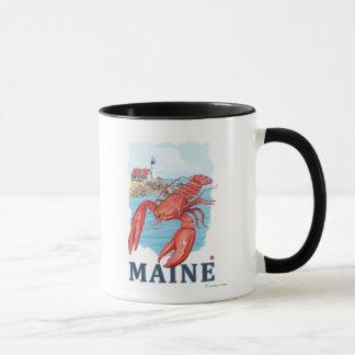 Mug Scène de homard et de phare de Portland