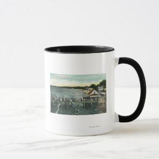 Mug Scène de jetée et de lac de brise marine