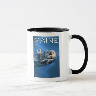 Mug Scène de loutre de MaineSea
