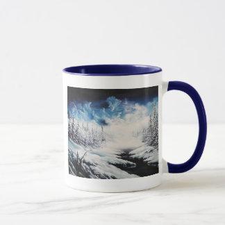 Mug Scène de neige de lune d'hiver sur les produits